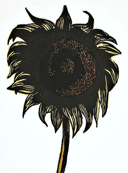 Leonard Baskin Sunflower 1998