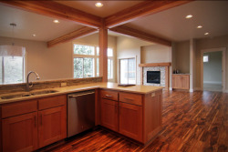 Golf View Residence Bend, OR. 2012 This is a new home in Bend along the Rivers Edge Golf Course and overlooking the Deschutes River. The home has 3 bedrooms and 3 bathrooms, with an open floor plan in the kitchen, living, and dining areas. The house is organized to take advantage of easterly light and views of the river. General Contractor: Bright Oak Homes Structural Engineer: Woodchuck Engineering