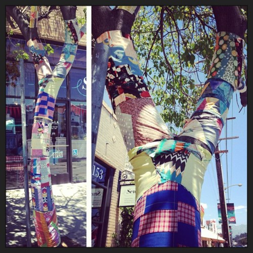 Tree quilting. #streetart #atwatervillage #losangles #art #laart  (at Atwater Village)