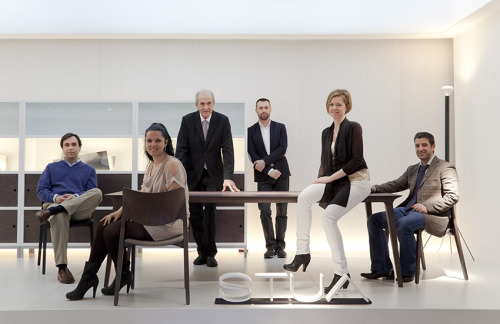 "love-spain:  The STUA team in the Milano fair. Jesus Gasca the founder of the company together with Yeneko Alba, Raquel Diaz, Asier Zabalo, and Elena Gasca and Jon Gasca, ""furniture made with love"".STUA Design Etc  These guys… Yes!  - W2K"