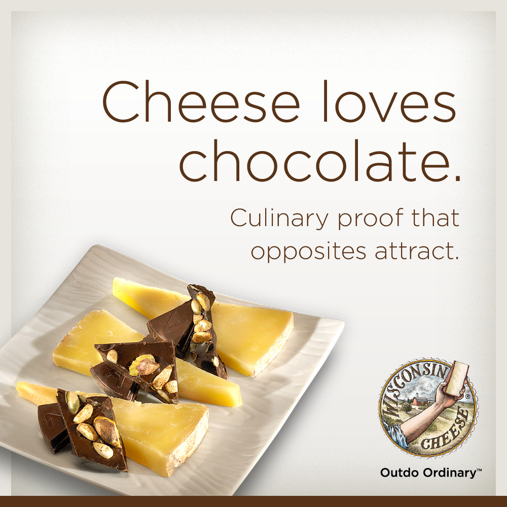 Cheese loves chocolate.