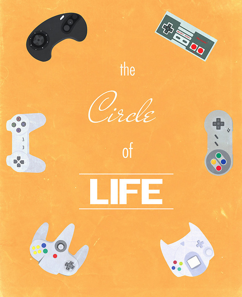 insanelygaming:  The Circle of Video Games Prints, stickers and t-shirts available on RedBubble Created by greatskybear