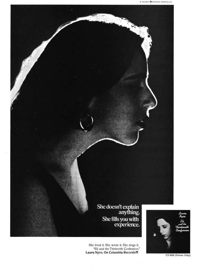 Laura Nyro - Eli and the Thirteenth Confession  Crawdaddy Magazine Advert, May 1968