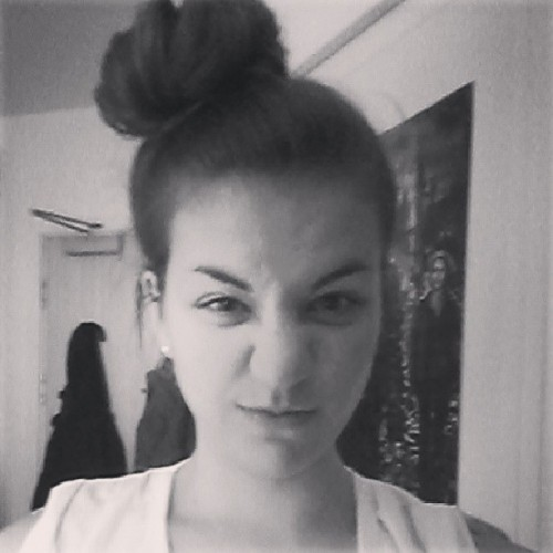The bun looks so muh bigger in this photo.