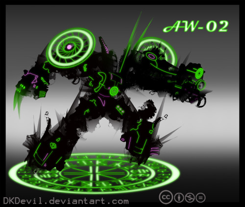 Assault Walker 02 : Neon Nightmare by *DKDevil