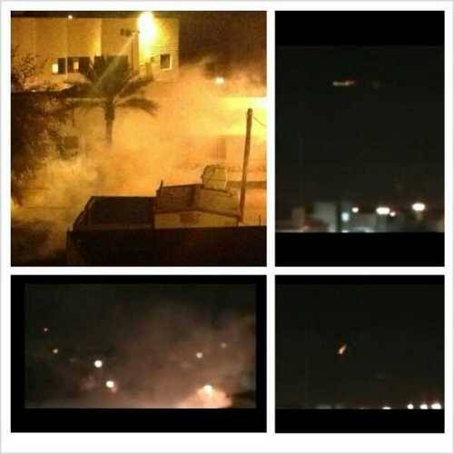 Duraz village drowned in tear gas / image via alwefaq / 6 Dec 2012 / twitpic.com/bjncol
