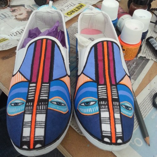 Close up of 'Happy Shoes'