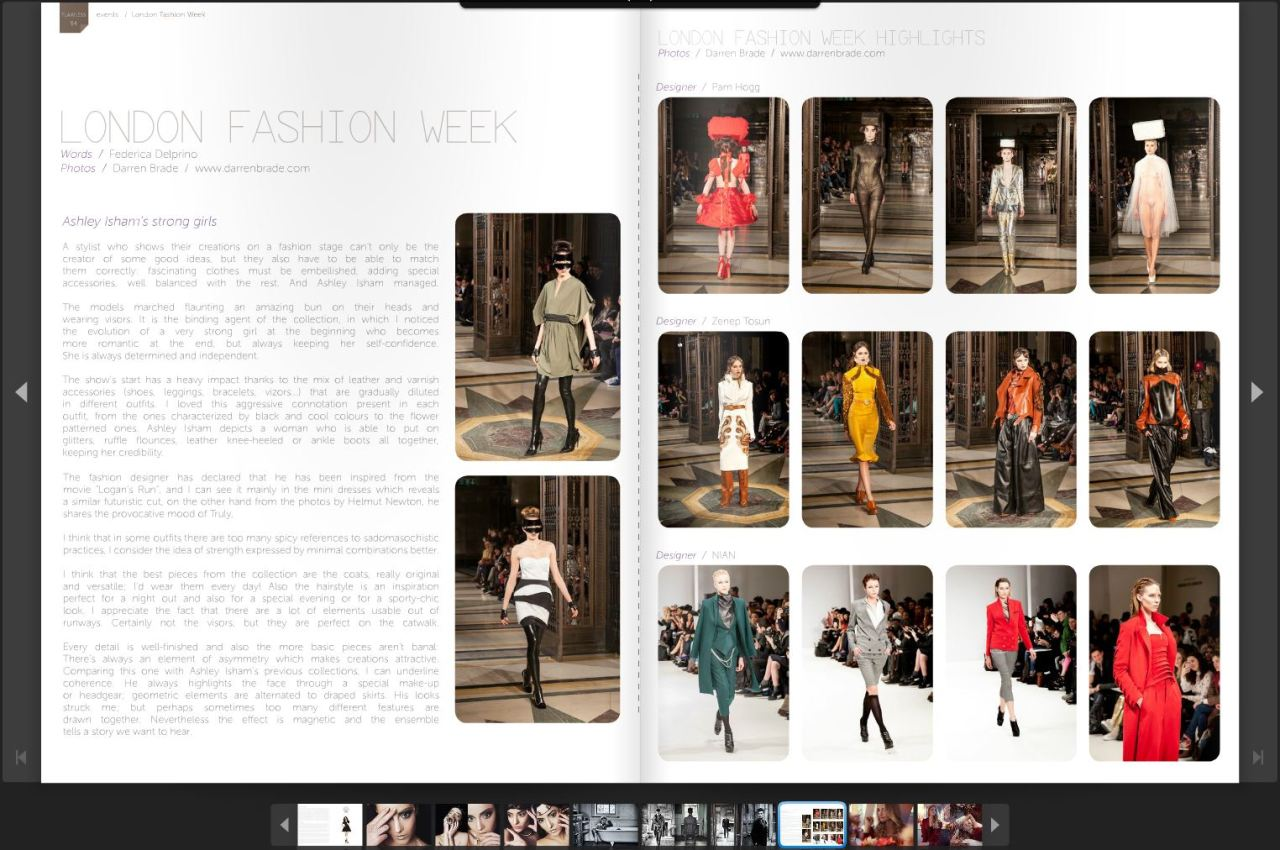 """Flawless Magazine"" March Issue #9My pictures from London Fashion Week http://issuu.com/flawless_magazine/docs/flawless-magazine-issue9/55#LFW #fashion #PopPR #FlawlessMagazine #darrenbrade #AshleyIsham #PamHogg #ZeynepTosun #Nian www.facebook.com/darrenbradephotographywww.darrenbrade.com©darrenbrade.com"