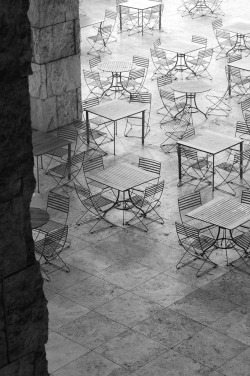 Where to sit The Getty Center, Los Angeles, California