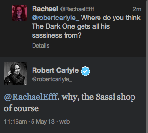Robert Carlyle, ladies and gentlemen!