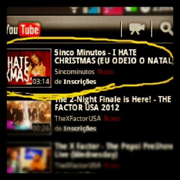 Pagina inicial do YouTube minha linda kehhbuchmann com I Hate Xtimas #ChristmasSongBy5incoMinutos