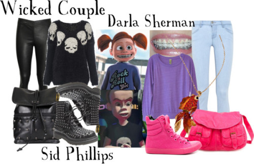 Sid Phillips and Darla Sherman by everythingisdisney  Two of your favorite brace-faced Disney Pixar villains!