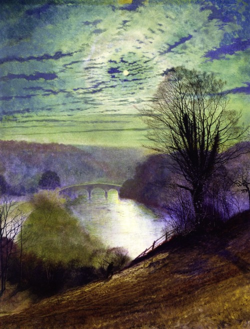 "John Atkinson Grimshaw ""On the Tees, Near Barnard Castle"""
