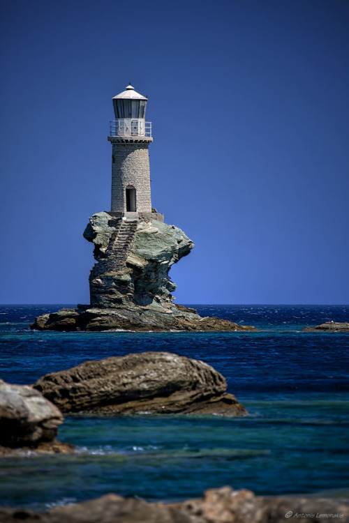 "derelictmetropolis:   (via 500px / Photo ""Andros' lighthouse"" by Antonis Lemonakis)"