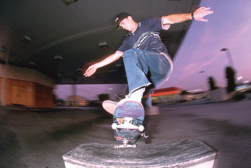 Tim Brauch, somewhere in East LA, 1993 or so. The big pants, small wheels era, obviously.