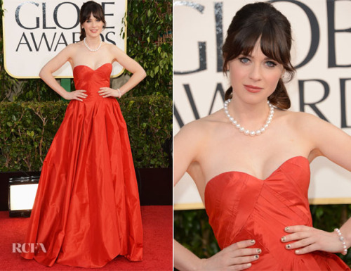GET THE LOOK: ZOOEY DESCHANEL AT THE 2013 GOLDEN GLOBE AWARDSby Jorjee Douglass http://bit.ly/UjC5IO