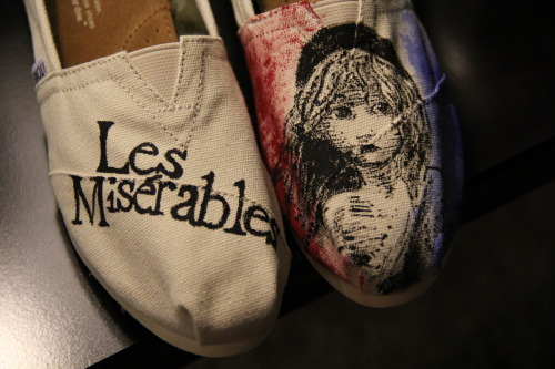 Les Misérables TOMS. hit me up at chloeshoedesigns@gmail.com if you're interested in having your TOMS customized <3