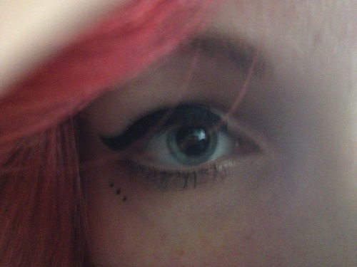 I like my eyes. They are weird colored and they are dilated usualy or you could say most of the times. :D