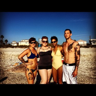Went to the beach with the roommate and friends. I love Florida in January!