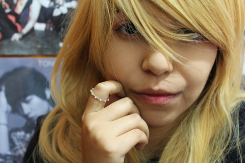 Fooling around with my blonde wig and my friend's pro camera LMAO.