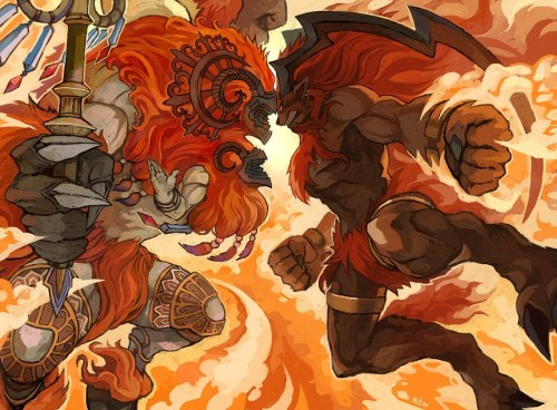 arealmfantasy:  Belias vs Ifrit