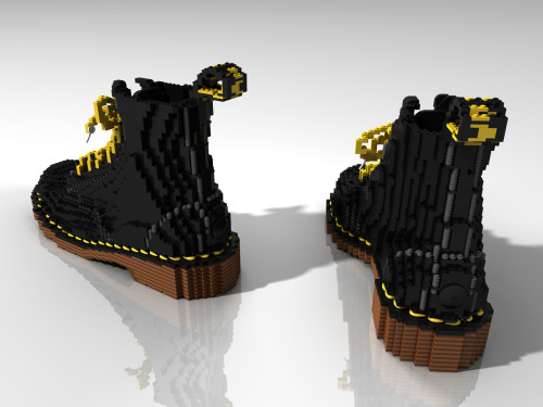 jayyparker:  Doc martens made out of legos  LOVE! (And easier to break-in than regular Docs. :D )