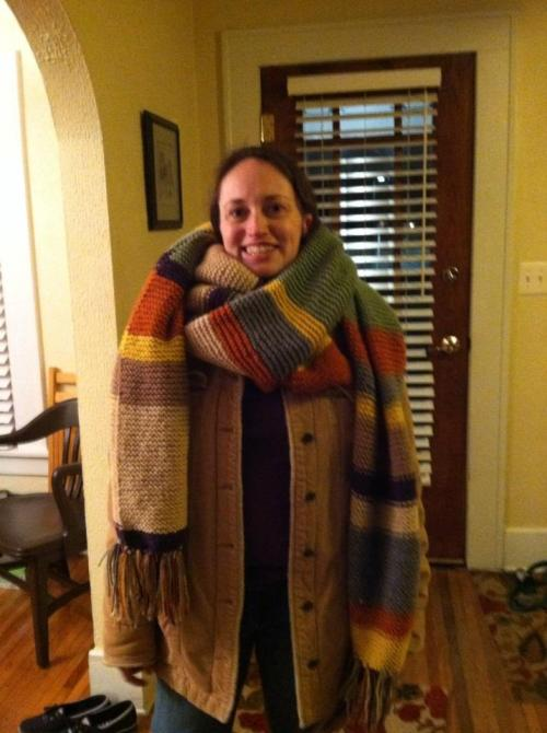 My first Doctor Who Scarf