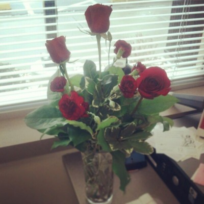 These were waiting for me in my office at 8am :) #valentinesday #roses #spoiled