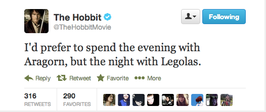 Sir Ian McKellen, on whether he prefers Legolas or Aragorn