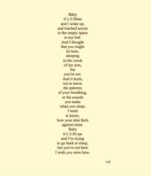 cinnygweneth:  this is honestly beautiful, i love this poem so much, the way its written and the way you read it in your mind just is perfection.