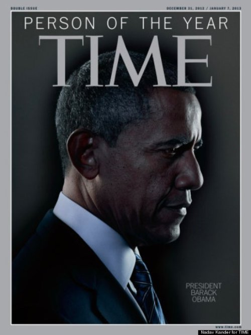 "alittlecoconuttart:  Time Person Of The Year 2012: Barack Obama Posted: 12/19/2012 7:53 am EST /  Updated: 12/19/2012 9:37 am EST President Barack Obama has been named Time's Person of the Year. Managing Richard Stengel unveiled the magazine's choice on Wednesday's ""Today."" He said it was remarkable that the president won two terms with over 50 percent of the popular vote as a Democrat. He also noted that Obama took office in an economic crisis, and credited him with creating a new political ""alignment like Ronald Reagan did forty years ago."" This is the second time that Time has chosen Obama. The magazine said it named him Person of the Year in 2008 for winning against the odds and becoming the first black president of the United States. ""For finding and forging a new majority, for turning weakness into opportunity and for seeking, amid great adversity, to create a more perfect union, Barack Obama is TIME's 2012 Person of the Year,"" Stengel explained in his note this year. Time's Michael Scherer wrote in a profile of the president:  Beyond the Oval Office, overwhelming challenges remain: deadlocked fiscal-cliff talks; a Federal Reserve that predicts years of high unemployment; and more unrest in places like Athens, Cairo and Damascus. But the President seems unbound and gives inklings of an ambition he has kept in check ever since he arrived at the White House to find a nation in crisis.   Malala Yousafzai, the Pakistani girl who was shot by the Taliban for fighting for better girls' education, was this year's runner-up. Other finalists included: Egyptian president Mohamed Morsi; Bill and Hillary Clinton, Yahoo! CEO Marissa Mayer, Apple CEO Tim Cook, CEO of Apple, and the three scientists who discovered the Higgs Boson particle. Time's Person of the Year is an annual tradition. Last year, the magazine chose ""the protestor"" in recognition of demonstrations all over the world, including Arab Spring, Occupy Wall Street and the anarchists in Greece."