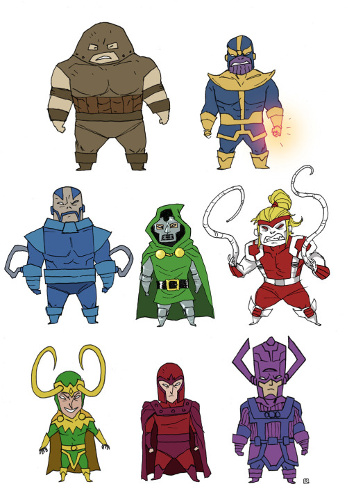 Buncha little Marvel supervillains by Darren Rawlings