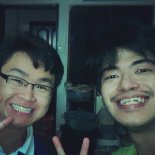 Michael(Jincheng) and me at our friend's place in JB