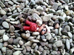 Discarded Mario on the playground