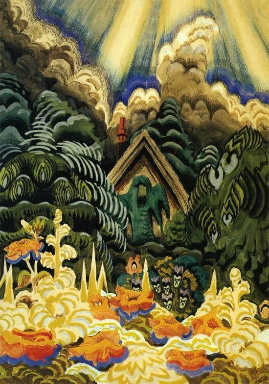 textual-evolution:  Charles Burchfield - Childhood's Garden