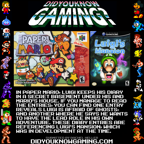 didyouknowgaming:  Paper Mario.  http://www.youtube.com/watch?v=cnhw_fWS3Q0