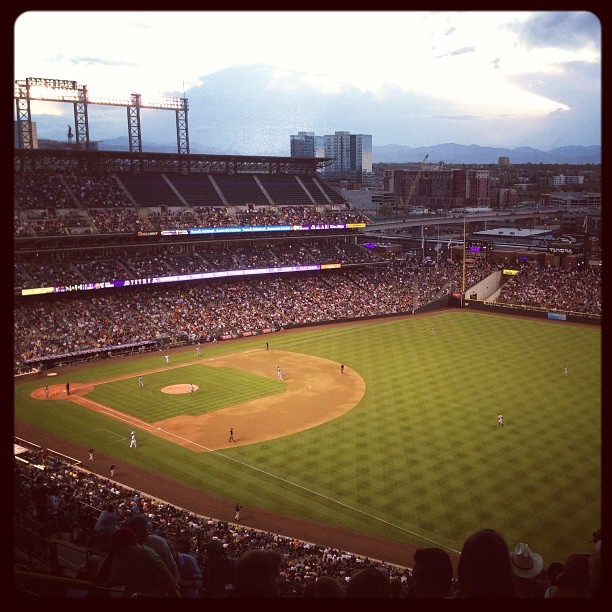 mile high.  (at Coors Field)