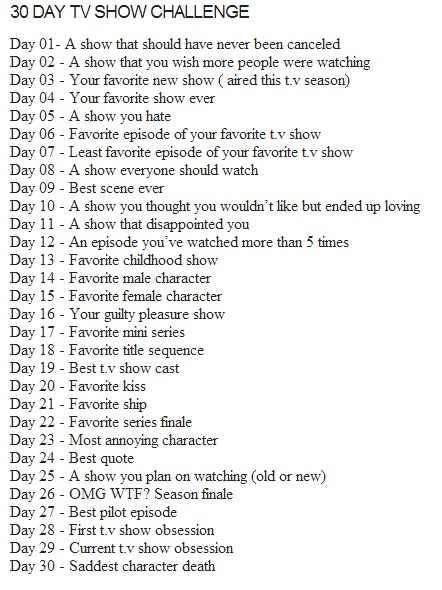 Day 1: Well hell, too many actually (read: BoP, Karen Sisco, Valentine…) but I will have to go with Swingtown I loved it, loved all that 70's feel, loved the costumes, loved the soundtrack and the cast was great. I actually cared what would happen with characters; I loved their stories, especially Trina and Tom's: their characters were well written, and chemistry between LP and GS was amazing! Not to mention, I would have loved to see Trina and Tom as parents, I think they would have been awesome…