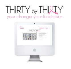 Thirty by Thirty Campaign Logo for THE Breast Cancer Fundraiser. {Client Project}