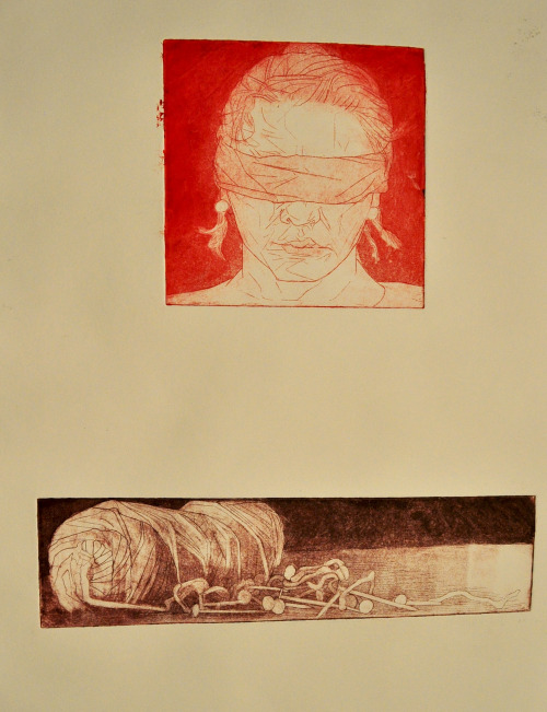 virginia-wood:  Enfilade, diptych etching with aquatint 2013