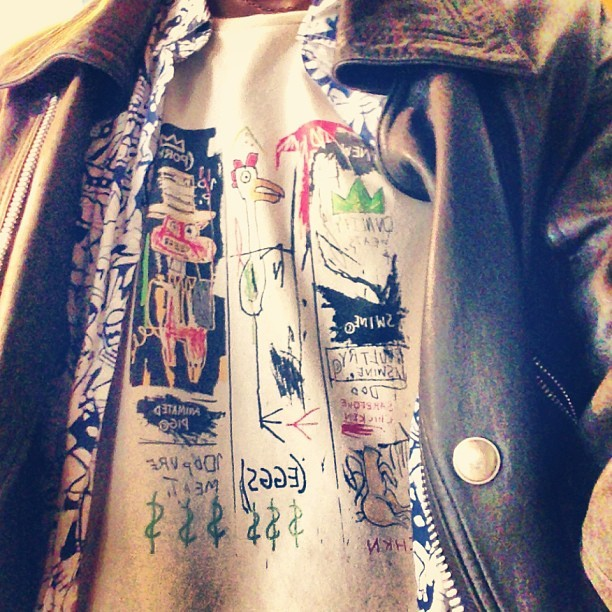 Rocking my #basquiat #tee today #menswear that kinda weather #dtla