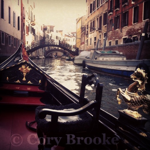 Our gondola ride in Venice.