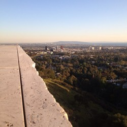 The last I saw of LA's skyline.  (at J. Paul Getty Museum)