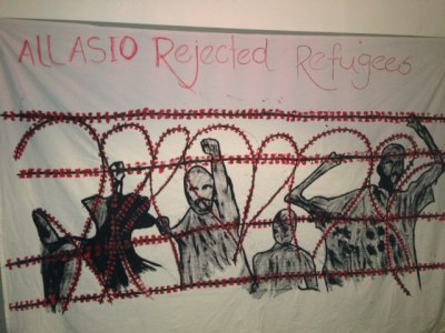 RISE says: Refugees at the MITA detention centre are declaring a hunger strike. Please read below message…  MESSAGE FROM THE ASIO REJECTED REFUGEES: We are 30 people here at Melbourne Immigration Transit Accommodation (25 Tamils, 2 Burmese and 2 Iranian) and 56 people all over the Australian detention. We have been here for four years and more. We cannot tolerate it any longer. We need to be released to save our lives. At 2 a.m. today (Monday, April 8, 2013) we began a hunger strike together. All 30 of us plan to keep doing this until there is solution, one way or the other. We will gather together in the grounds of the detention centre and stay there until we get a solution. If the Australian Government does not release us, we ask that they kill us mercifully. We have painted banners as part of our protest. There is one that shows many people hanging. That is what we want to happen to us if we are not released. for life here. People in here are jumping off rooves, they are going on hunger strikes, they are taking tablets, they are trying to hang themselves……It is a cruel and inhumane environment for everyone. We plead with you, the Australian people, to help us. We are on the edge of life and don't know how much longer we can stand it. We ask Prime Minister Gillard, Immigration Minister O'Connor, Attorney-General Mark Dreyfus Opposition leader Abbott and ASIO director David Irvine to stop this torture of all of us……. of men, women and children, who have done nothing to warrant this cruel treatment that is destroying our minds. We ask the authorities : You say we are a threat to this nation. So if we are such people why have they now put women and children and families in here with us? We are willing to be released into the community under strict orders if they think we are threats, which we aren't. But whatever they want we will do. But we can't keep living like this. We are not in detention. We are in a cemetery. We don't want to die. We left Sri Lanka, Burmese and Iran because we fear to die. We came to Australia to live, not die. But death would be better than the life we have. SIGNED. ALL ASIO REFUGEES-AUSTRALIA.