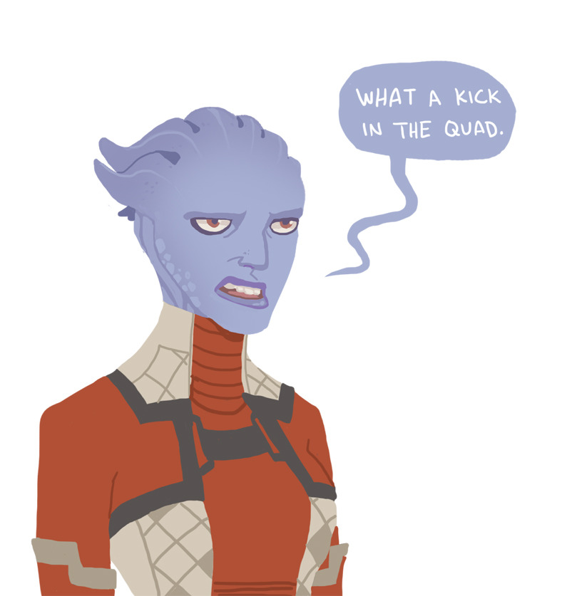 Someone just asked who my favorite asari is, if Shiala is second! Matriarch Aethyta, by a long shot. I'm a sucker for the grumpy characters.