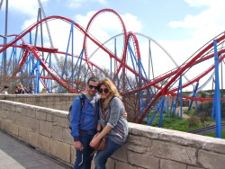 boyfriend and I in Spain - Port Aventura