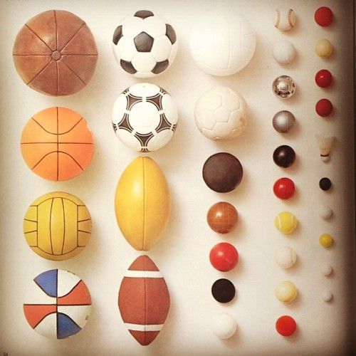 #football #basketball #rugby #tennis #biljart #petanque #volleyball #badminton #baseball #artphotography #collection http://on.fb.me/ZYbOnE