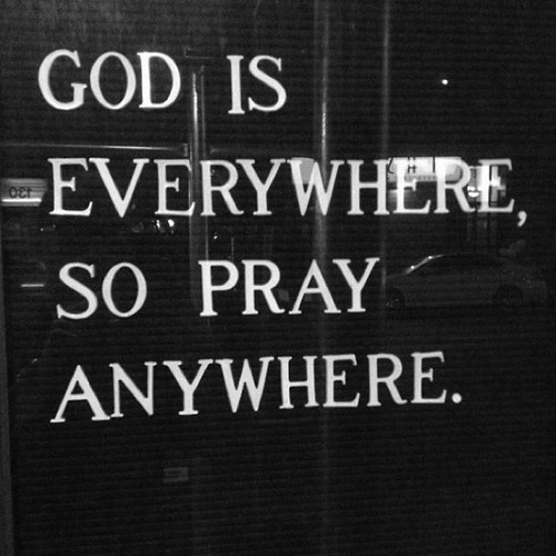 "spiritualinspiration:  Talk To God Anywhere by Joyce Meyer Do you not know that your body is the temple (the very sanctuary) of the Holy Spirit Who lives within you, Whom you have received [as a Gift]  from God? 1 CORINTHIANS 6:19 The angel of the Lord said to Moses, ""Take the shoes off your feet, for the ground on which you stand is holy ground"" (see Exodus 3:5). The ground was holy because the Holy One was there. Now through faith in Jesus, you are the temple of the Holy Ghost. Everywhere you go becomes a holy place because the Holy One dwells in you. God is not in a building, where you can only visit Him on Sunday morning. He is with you everywhere you go. You can talk to Him while you vacuum, or while you change the oil in your car. When you let God become involved in every aspect of your life, every day becomes exciting."