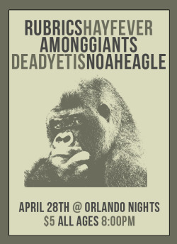 amonggiants:  http://www.facebook.com/events/129102597278364/?fref=ts