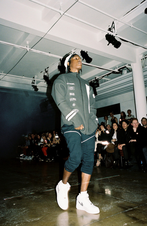 bryant:  A$AP Rocky walking for Hood by Air.